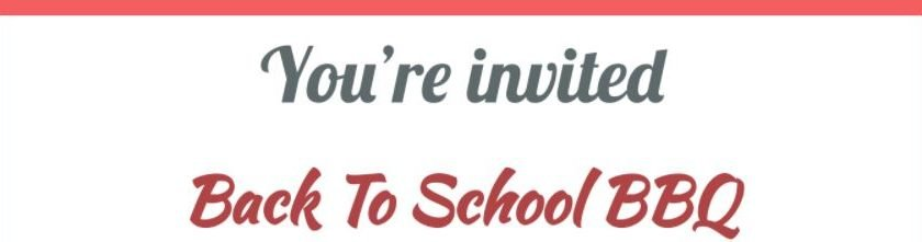 Back-to-School BBQ Rescheduled for 8/31